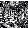 Black and white seamless pattern graffiti sticker vector image