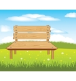 Bench on nature vector image