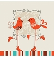 Birds romantic date vector image
