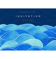 Invitations card on navy blue background vector image
