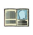 book medicine health literature dictionary vector image