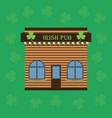 cartoon building an irish pub or cafe vector image