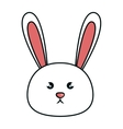 cute animal rabbit kawaii style vector image