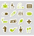 drugs stickers vector image