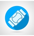 Flat icon for elbow and knee protection vector image