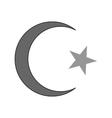 Star and crescent symbol icon vector image
