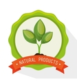 symbol natural product plant label vector image