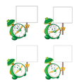 alarm clock with blank sign vector image