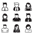 useraccount staff employee maid icons vector image