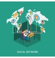 Social network on-line concept for web and vector image