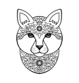Ornamental White Cat vector image