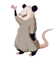 Cartoon smiling Opossum vector image