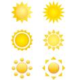 summer logo sun icon vector image vector image