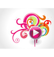 Beautiful play button vector image