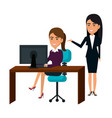 businesspeople in training process vector image