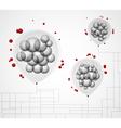 creative social grouping vector image