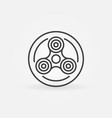 Fidget spinner in circle icon vector image