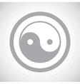 Grey ying yang sign icon vector image