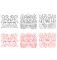 Retro flowers embellishments vector image