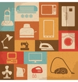 Retro home appliances icons vector image