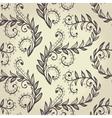 Seamless beige elegant floral background vector image