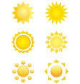summer logo sun icon vector image