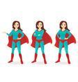 superwoman set vector image