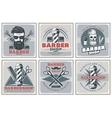 Barbershop Hipster Posters Set vector image vector image