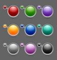 Button or icon template bubbles vector image vector image