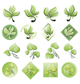 set of logos from the leaves vector image vector image