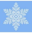 Simple White Snowflake vector image