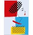 Pop Art Retro Woman vector image