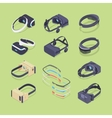 Isometric virtual and augmented reality headsets vector image