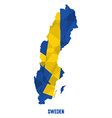 Map Of Sweden vector image