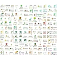 Mega collection of universal logos business vector image vector image
