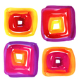 Abstract watercolor squares spot vector image