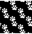 Paw zoo pattern Black and white for zoo vector image