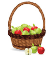 Basket of Red and Green Apples2 vector image