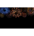 Firework bursting sparkle background set vector image