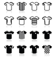 Football or soccer jerseys icons set vector image