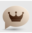 King crown sign Brown gradient icon on bubble vector image