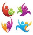 Leadership and victory symbols vector image