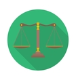 Scales of Justice sign Law balance symbol vector image