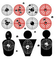 set of different bullet holes vector image