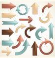 set of shiny arrows vector image