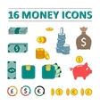 sixteen money icons set vector image
