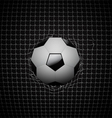 Soccer ball in goal design vector image