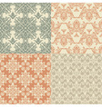 seamless vintage wallpaper patterns vector image