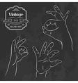 Vintage chalkboard OK hand gesture vector image vector image