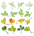 set of logos of multi colored leaves vector image vector image